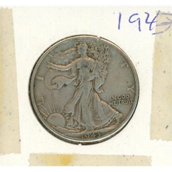 US Half Dollar 1943