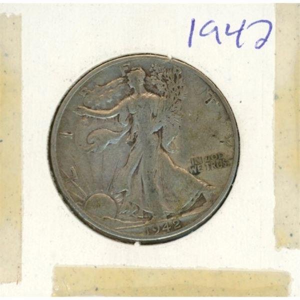 US Half Dollar 1942