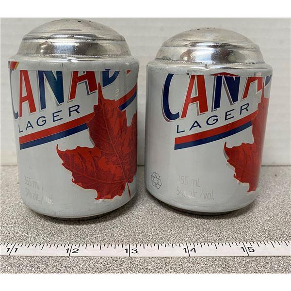 Molson Canadian beer salt & pepper