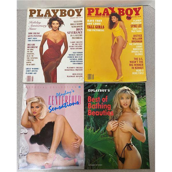 4 1990's Playboy magazines