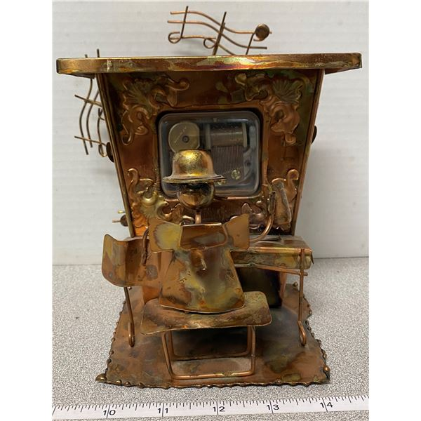 Copper piano player music box (works)