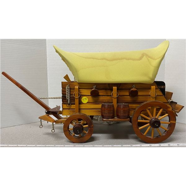 Electric wagon lamp (wood) - works