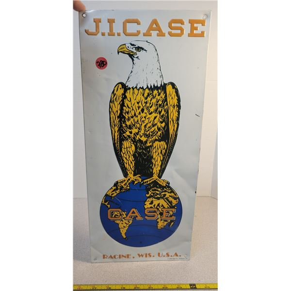 "J.I. Case embossed tin sign (USA) 18"" X 8"""