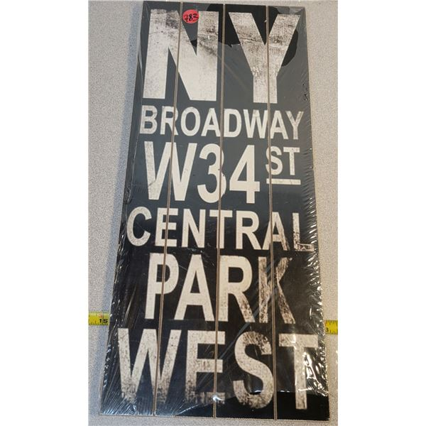 """New wooden 17.5"""" X 7.5"""" sign"""