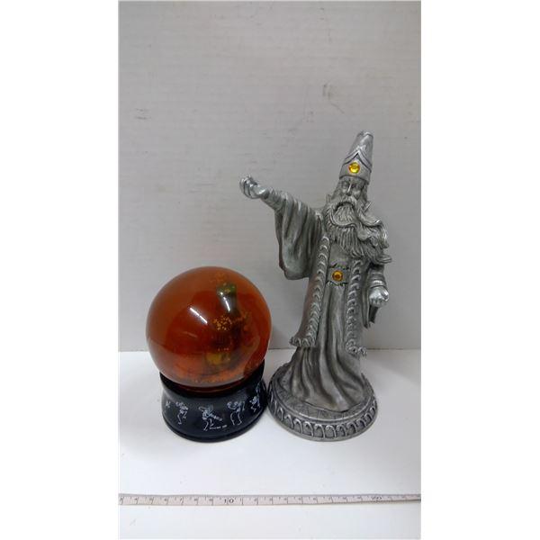 Tim Burton Snow Globe and Wizard