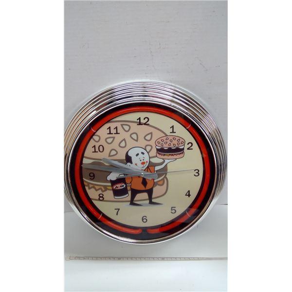 A&W Wall Clock