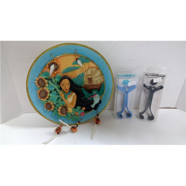 2 Phone / Tablet Clips, Pocahontas Collectable