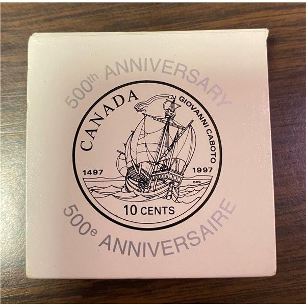 500th anniversary Canada 10 cents 1497-1997 10¢ silver
