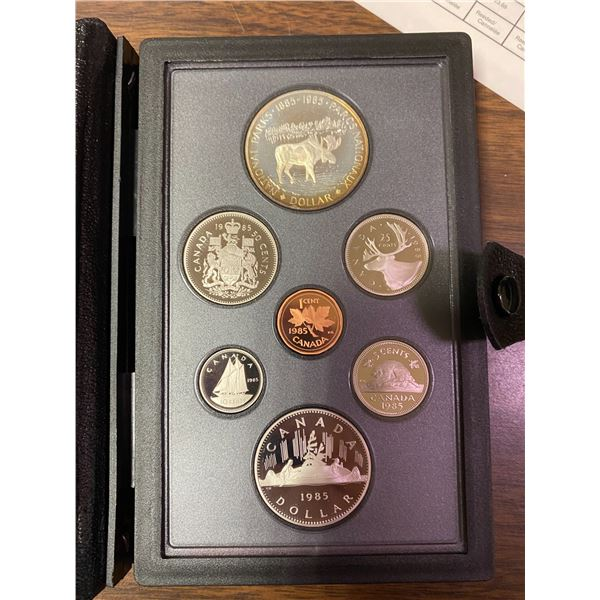 1985 Canadian double dollar set