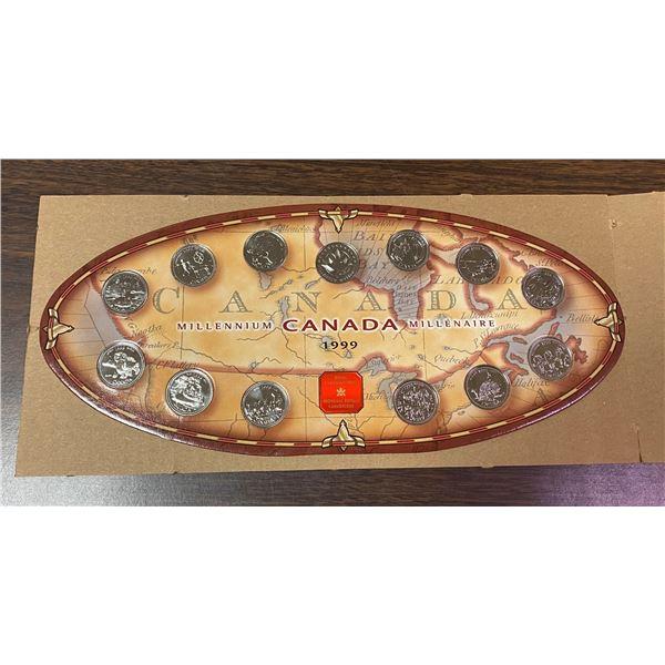 1999 Canada Millennium quarters Set