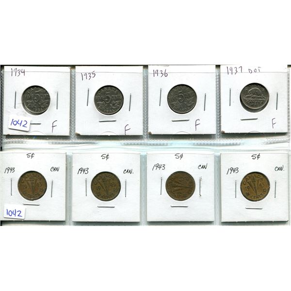 8 5 CENTS 1934, 35, 36, 37, 43