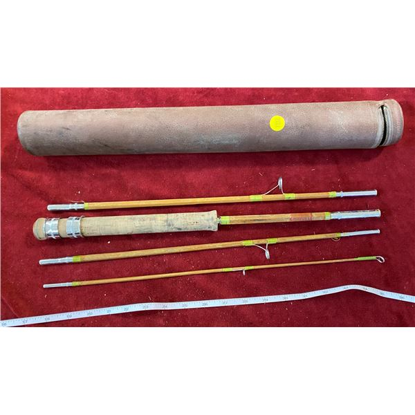 Vintage Bamboo Fly Rod W/Case