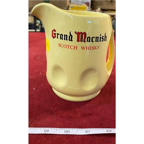 """Vintage """"Grand Macnish"""" Whiskey Pitcher"""