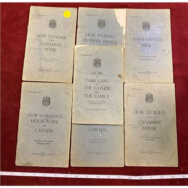 7 1923 Blue Books For Canadian Households