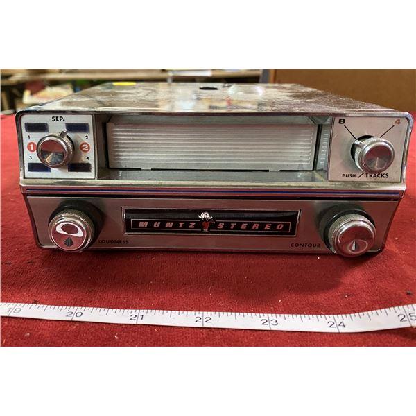 "Vintage Muntz 8 Track Car Stereo ""Untested"""