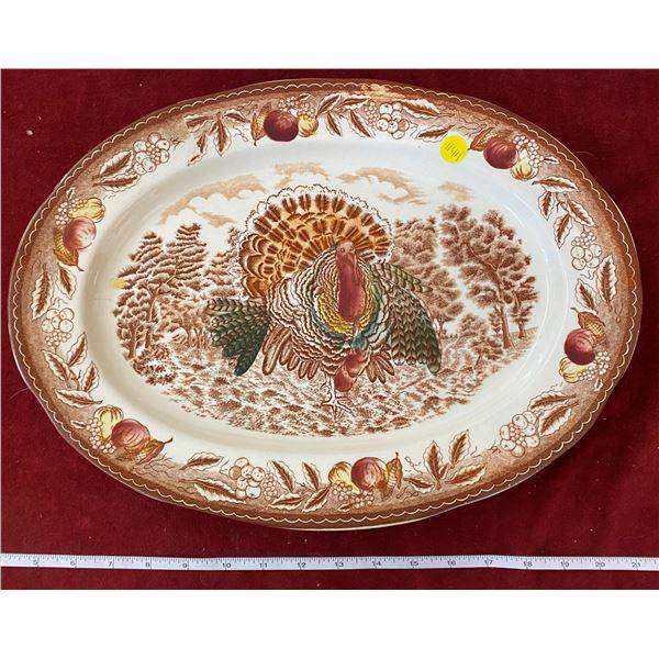 Large Vintage Turkey Platter