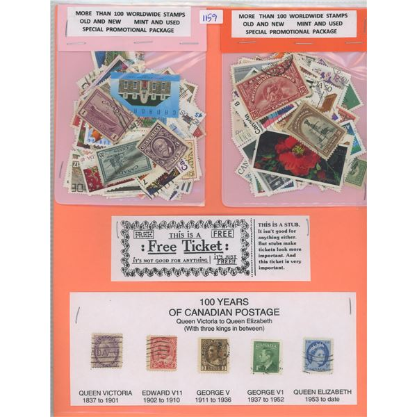 Lot Assorted Worldwide Stamps