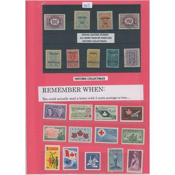 Lot Australian & Canadian Stamps