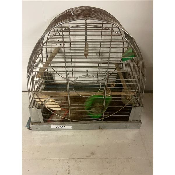 vintage metal bird cage
