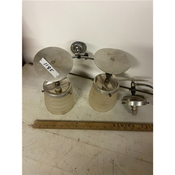 gas double lantern original shades Veritar plus extra parts