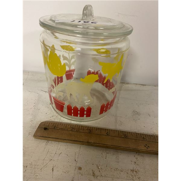biscuit jar & lid -no chips or cracks