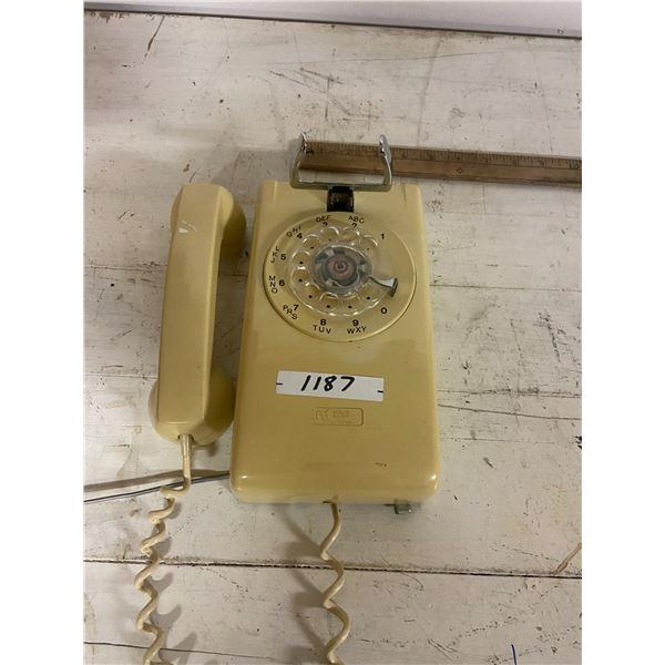 rotary dial wall telephone