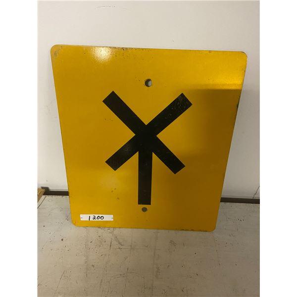 "rail road pole sign 12x14"" metal"