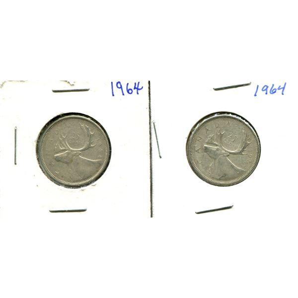 (2) Canadian Quarters (1964)