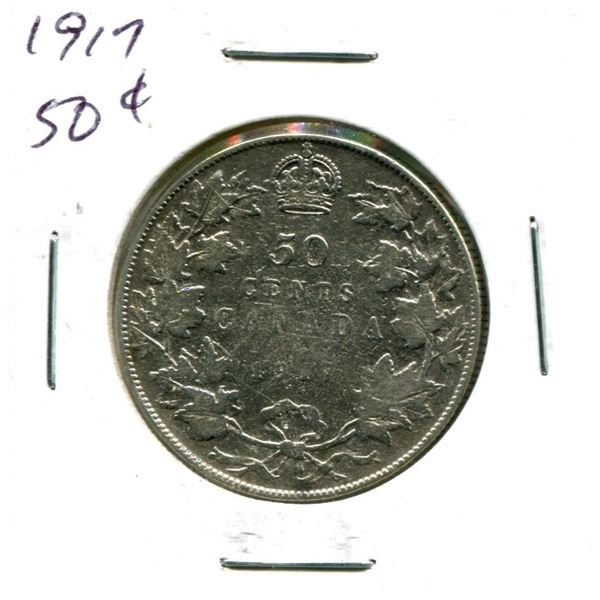 1917 Canadian Silver Fifty Cents