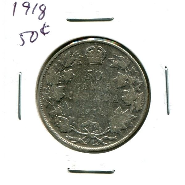1918 Canadian Silver Fifty Cents