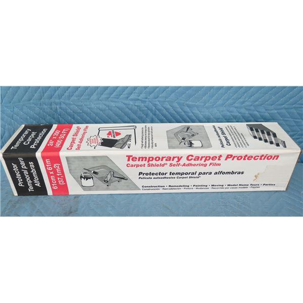 "Surface Shields CS24200L Carpet Shield Self Adhesive Film 24""x200' New in Box"