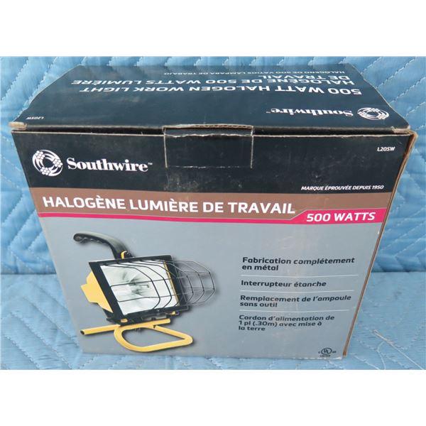 Southwire L168220SW Halogen Work Light 500 Watts New in Box