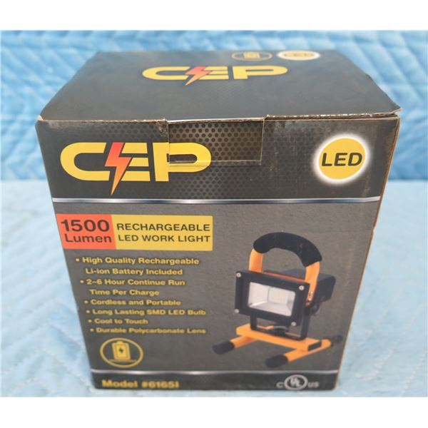 CEP Construction Electrical Products 61651 LED Work Light Rechargeable New in Box