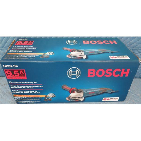 Bosch 18SG5K Concrete Surfacing Kit Grinder w/ Shroud New in Box