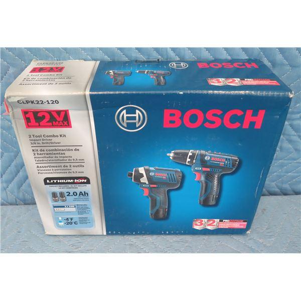 "Bosch CLPK22120 Combo 2 Tools: Impact Driver & 3/8"" Drill/Driver New in Box"