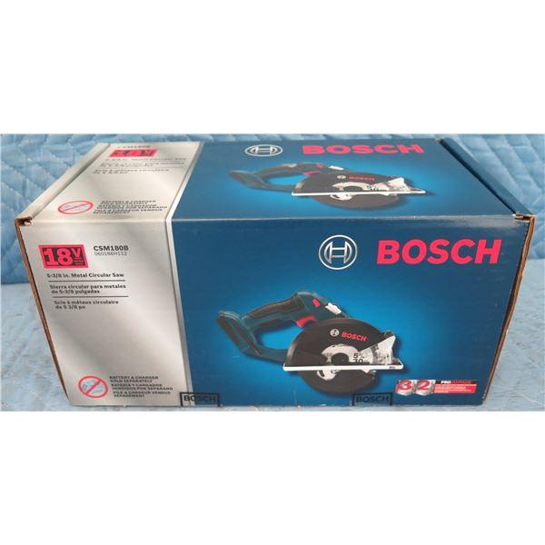 "Bosch CSM180B 5-3/8"" Metal Circular Saw New in Box"