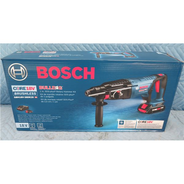 Bosch GBH18V26DK25 Bulldog Cordless SDS-Plus Rotary Hammer Kit New in Box