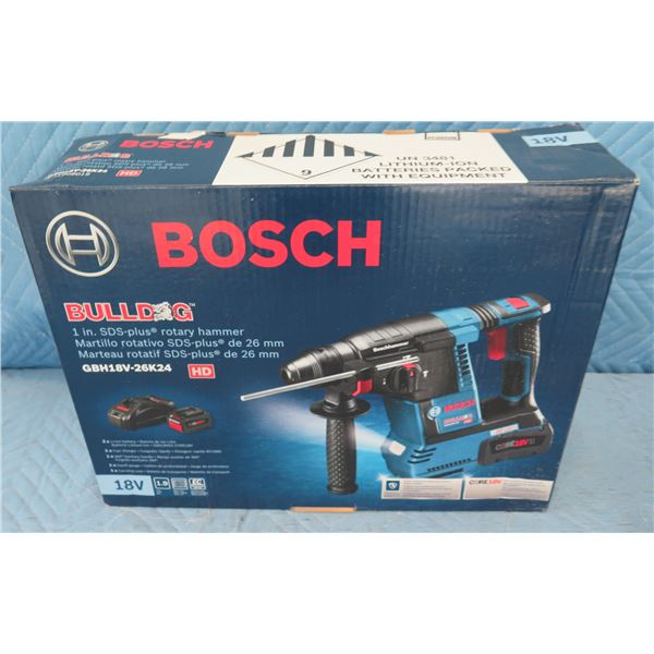 Bosch GBH18V26DK24 Bulldog SDS-Plus Rotary Hammer New in Box