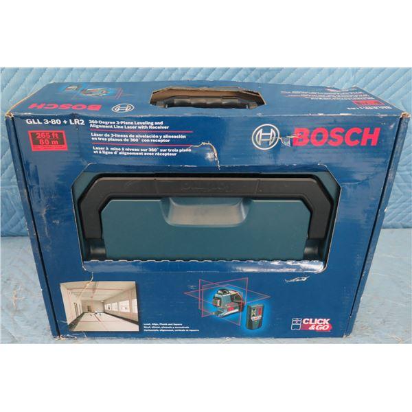 Bosch GLL380LR2 3-Plane Levelling Laser  New in Box