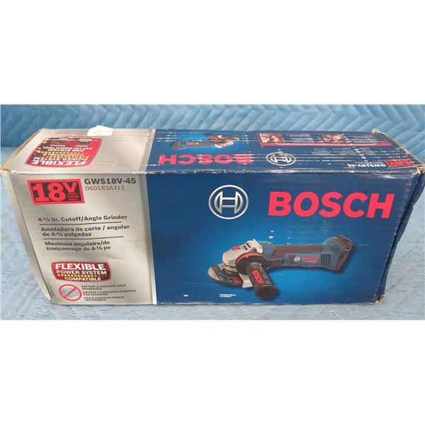 Bosch GWS18V45 Cutoff Angle Grinder 18V (Tool Only)  New in Box