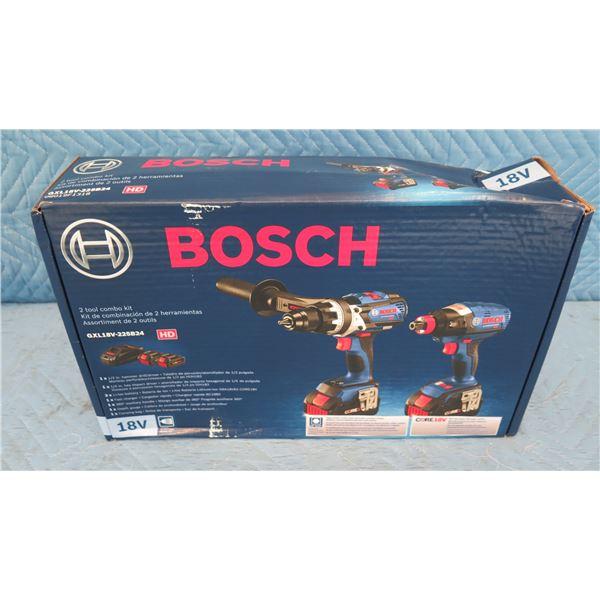 Bosch GXL18V225B24 Combo 2 Piece Kit 18V  New in Box