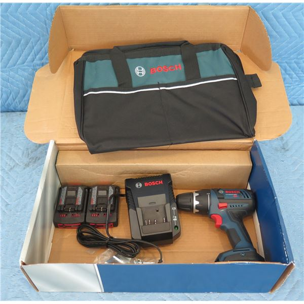 Bosch DDS18102 Drill w/ 2 Batteries, Charger & Case in Box