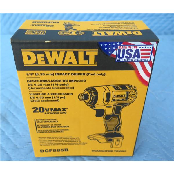 DeWalt DCF885B Impact Driver 20V Max (Tool Only)  New in Box