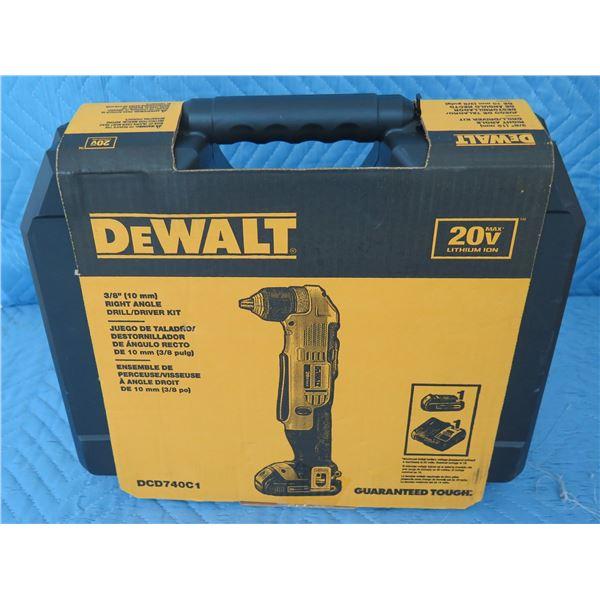 DeWalt DCD740C1 Right Angle Drill Driver Kit  New in Box