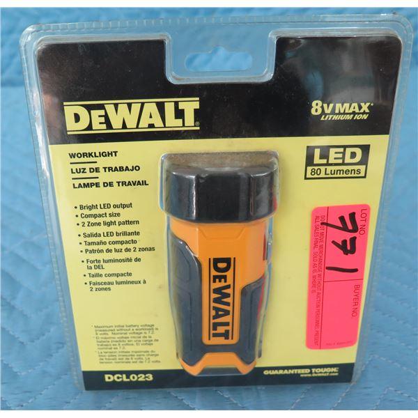 DeWalt DCL023 Work Light Flashlight 8V Max  New in Package