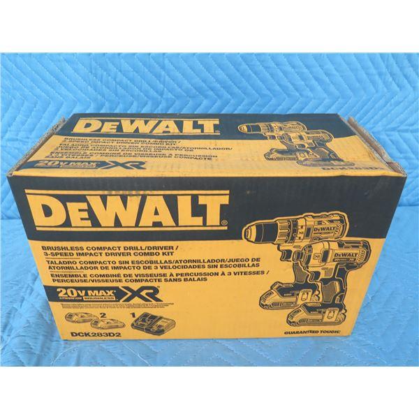 DeWalt DCK283D2 Compact Drill Driver Kit 20V New in Box
