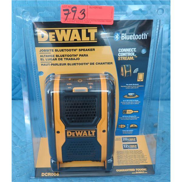 DeWalt DCR006 Jobsite Bluetooth Speaker New in Package