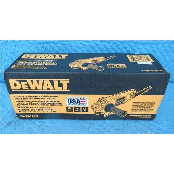 """DeWalt DWE4120N Angle Grinder 4-1/2"""" New in Box"""