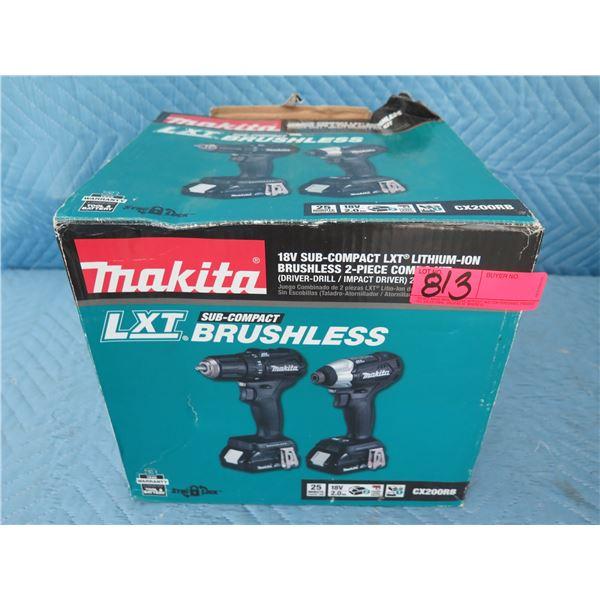 Makita CX200RB Combo Kit LXT Brushless Sub-Cmpt DR/MPT New in Box