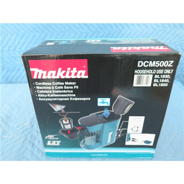 Makita DCM500Z Coffee Maker 18V (Tool Only) New in Box